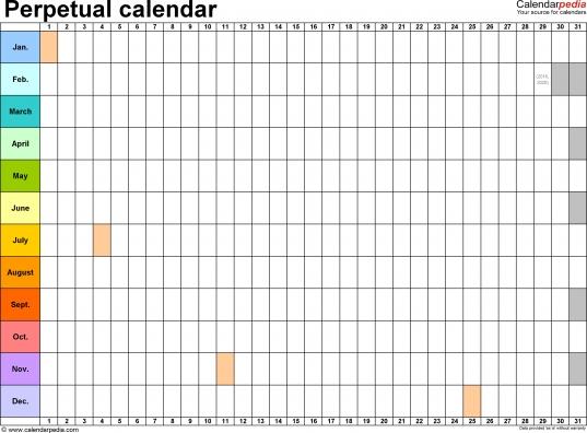 Perpetual Photo Calendar — Crafthubs