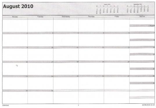 Philofaxy: Microsoft Outlook Calendar > Filofax