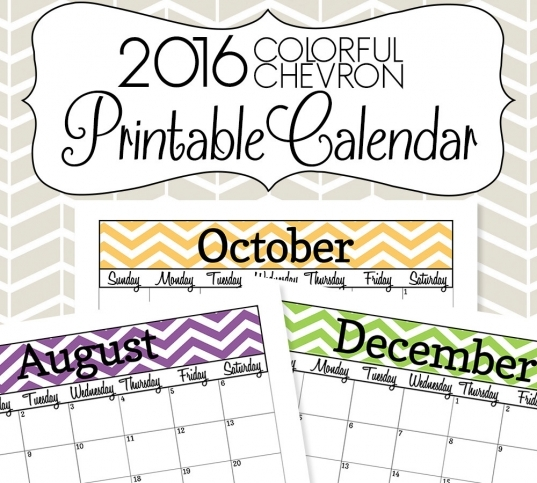 Popular Items For Chevron Calendar On Etsy