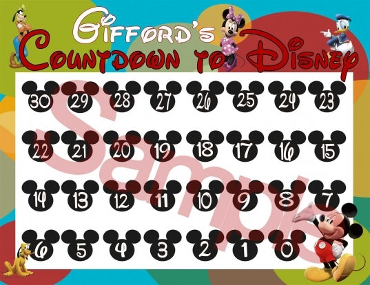 Popular Items For Countdown To Disney On Etsy