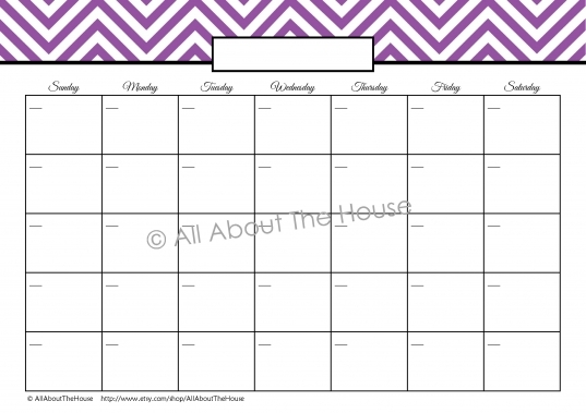 Printable Weekly Calendar | Allaboutthehouse Printables