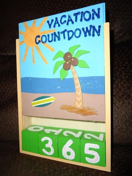 beach vacation countdown calendar