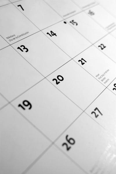 The Write Conversation : Calendar Days—holidays, Special Days