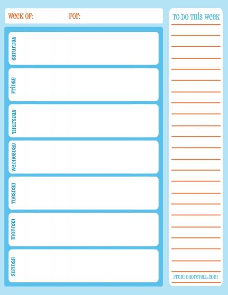 11 Best Images Of Printable Weekly Task Schedule   Free Printable