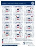 Social Security Calendar Payment Dates