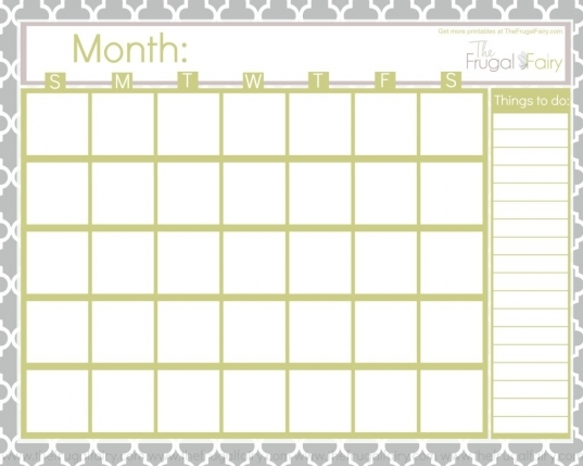 5 Best Images Of Free Fill In Blank Calendar Printables   Free