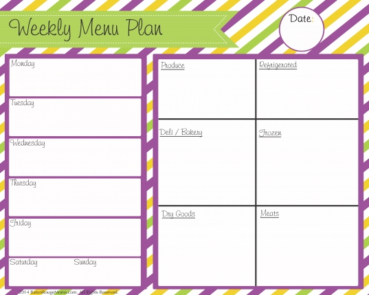 6 Best Images Of Printable Blank Menu Calendar Monthly   Free