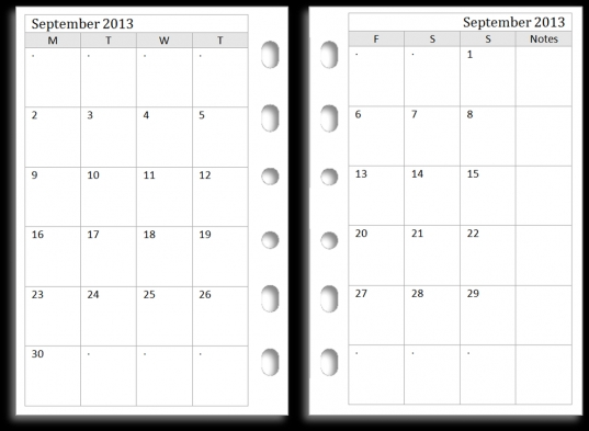 7 Best Images Of 2 Month Calendar Template Printable   Free