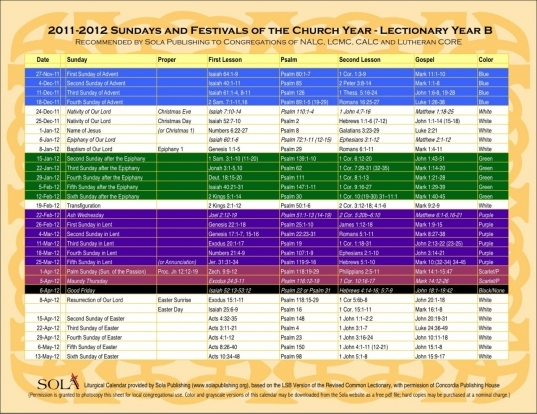 Methodist Lectionary Calendar 2015 Printable Related Keywords
