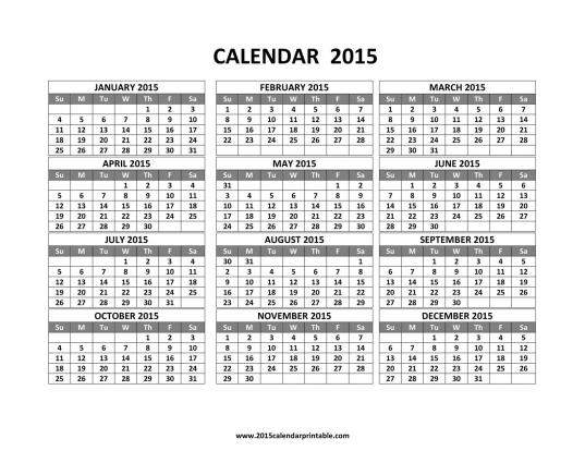 Month Calendar | 2017 Printable Calendar