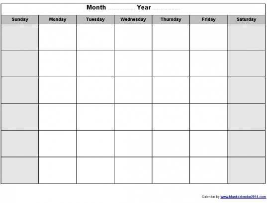 blank calendars to print without downloading