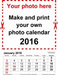 Extra Large Calendar Template