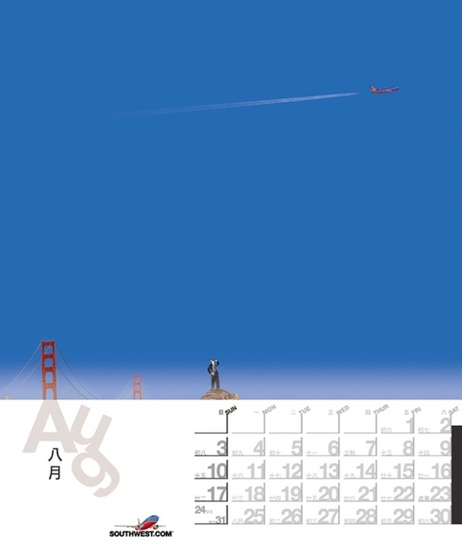 """Southwest Airlines Calendar   """"come Away With Me""""   Graphis"""
