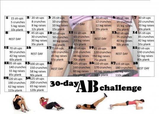 30 Day Ab Challenge | Fit Bitch