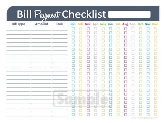 5 Best Images Of Printable Monthly Bill Payment Calendar