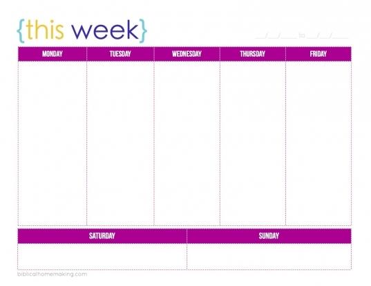 7 Best Images Of Weekly Work Planner Printable   Free Printable