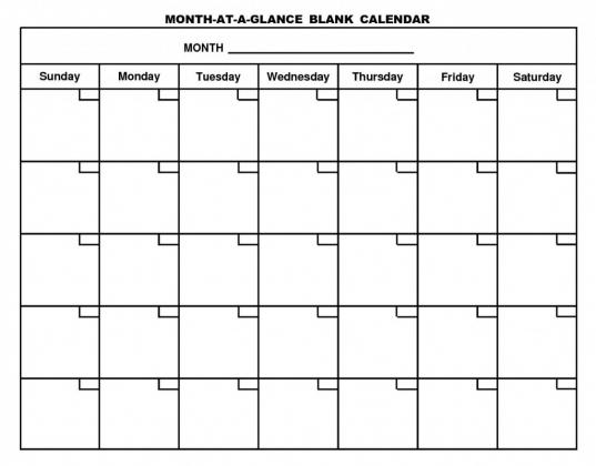 Blank Calendar | Free Calendar 2017