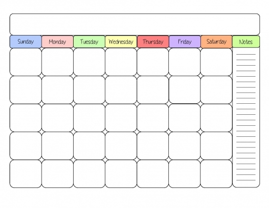 Free Printable Blank Calendars To Fill In | Printable ...