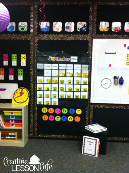 Creative Lesson Cafe: Number Corner Set Up Photos~ Our Calendar