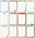 Perpetual Birthday Calendar Printable
