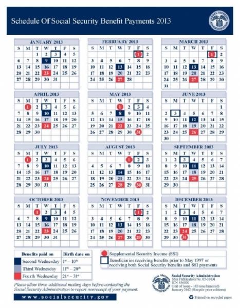 My Ssi Payment Calendar 2015 | :::calendar Template 2016:::