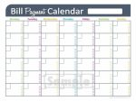 Bill Pay Calendar Printable