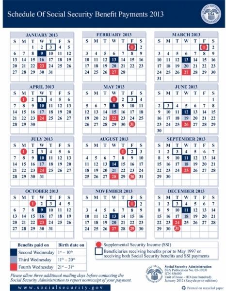 Ssi Benefit Payment Calendar 2014 | :::calendar Template 2016:::