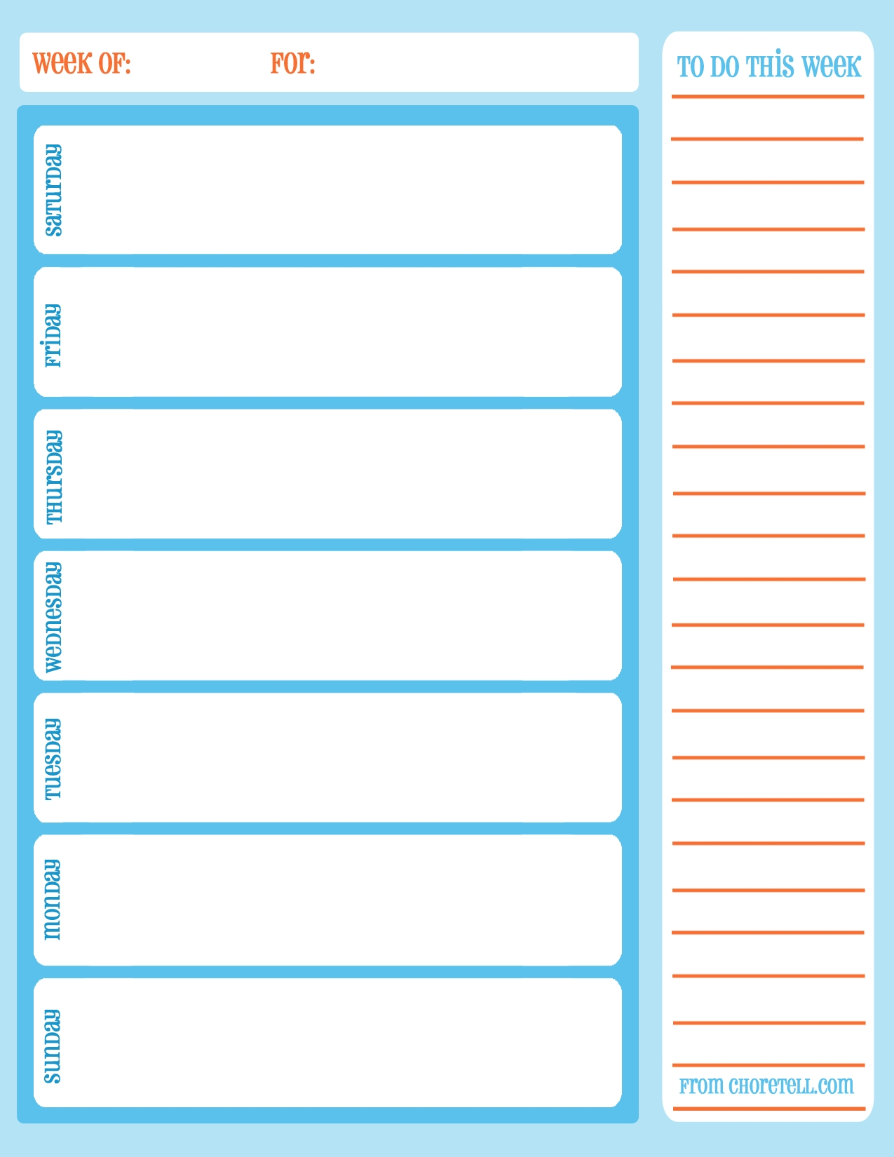 Weekly Calendar Printable | Weekly Calendar Printable