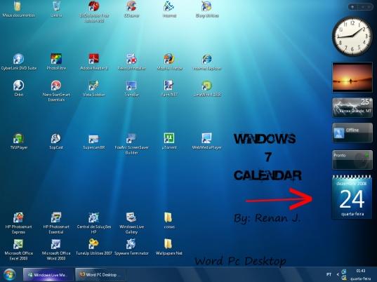 Windows7 Calendar Gadget  Wpdesktop On Deviantart