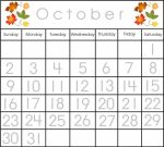Printable Classroom Calendar Numbers