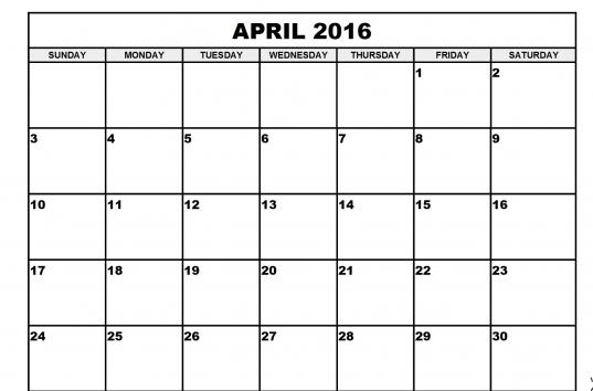 April Month Calendar Printable 2017   Printable Calendar Templates