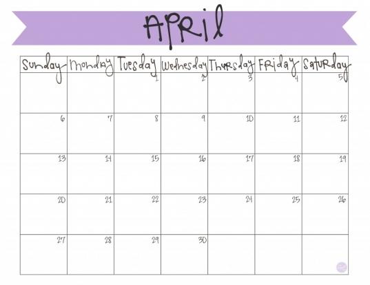 Cute Calendar April 2014   Google Search | I Wanna Be A Teacher