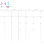 Cute Printable April Calendar