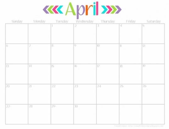 Cute Calendar April Amazing | Calendar Printable 2017