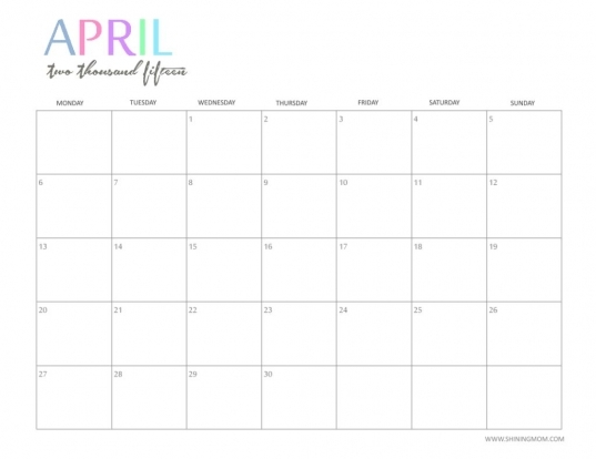 Cute Calendar April Amazing | Calendar Printable 2017