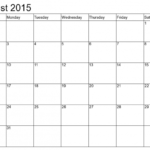 July 8 X 11 Printable Calendar