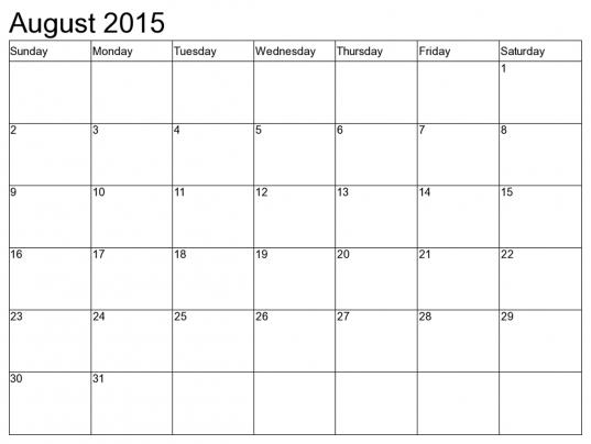 8 X 10 Printable Calendar July 2017 | Printable Calendar 2018