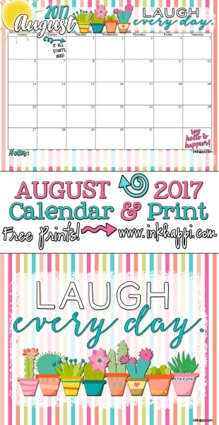 August 2017 Calendar Is Here With A Dose Of Good Medicine!   Inkhappi