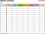 Printable Blank Weekly Schedule Calendar