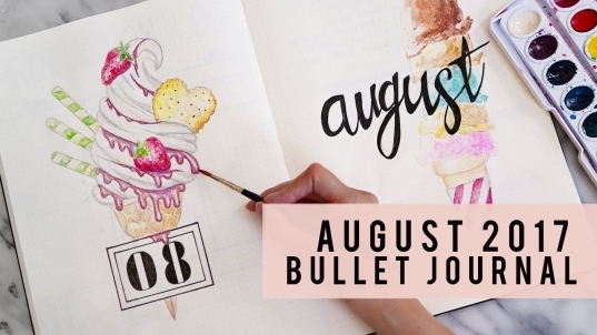 Plan With Me | August 2017 Bullet Journal | Ann Le   Youtube