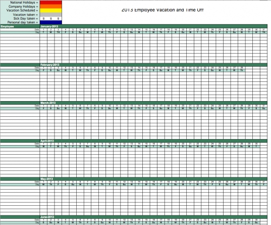 100+ Employee Attendance Sheet Template | 8 Best Images Of