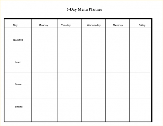 3+ 5 Day Calendar Template | Outline Templates