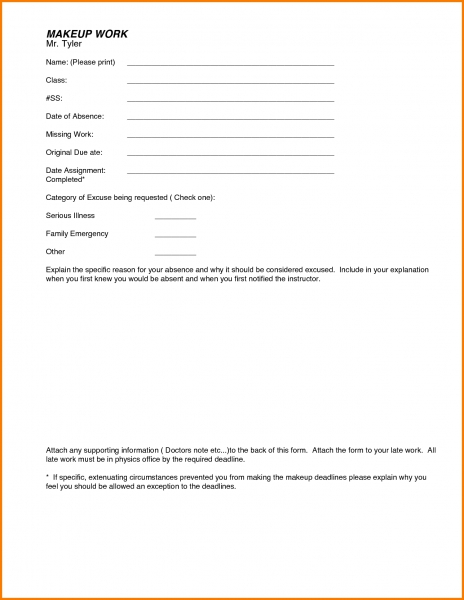 5 Blank Doctors Note For Work   Receipt Templates