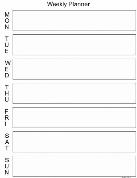7 Day Calendar Printable | Printable Online Calendar