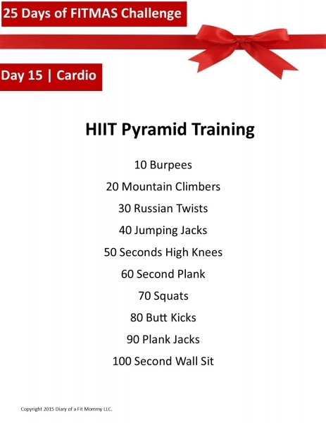 Diary Of A Fit Mommy25 Days Of Fitmas Workout Challenge: Day 15