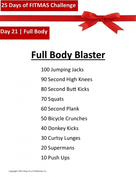 Diary Of A Fit Mommy25 Days Of Fitmas Workout Challenge: Day 21