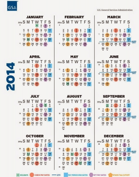 Federal Pay Calendar 2017 With Holidays | 2017 Calendar Printable