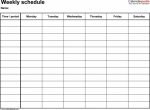 Blank Daily Time Schedule Printable