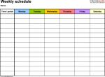 Printable Monthly Planner With Times