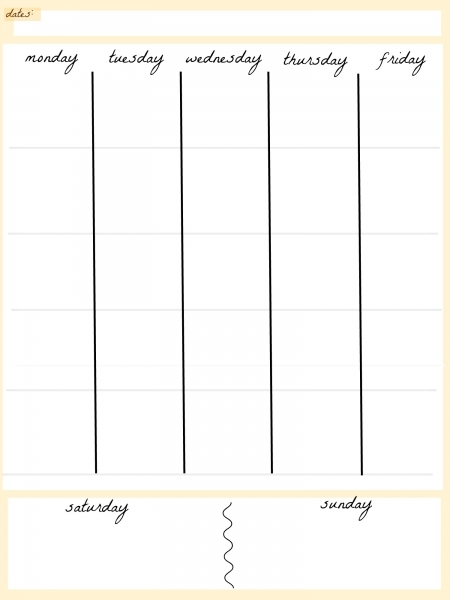 Weekly Calendar 5 Day | Blank Calendar Design 2017